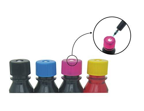 refill24 Kit de Recarga para Cartuchos de Tinta HP 305, 305 XL Negro y Color, Tinta Incluye Clip y Accesorios + 200 ML Tinta