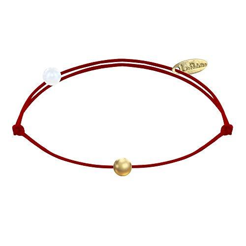 Les Poulettes Bijoux - Bracelet Lien Petite Perle Plaqué Or - Classics