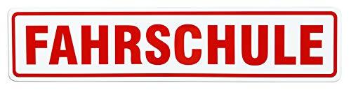 LOHOFOL Magnetschild FAHRSCHULE | 3 Größen lieferbar | Schild magnetisch (65 x 14 cm)