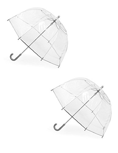 Totes Kids' Clear Bubble Umbrella (Pack of 2), Clear/Clear