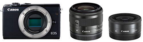 Canon ミラーレス一眼カメラ EOS M100 ダブルレンズキット ブラック EOSM100BK-WLK