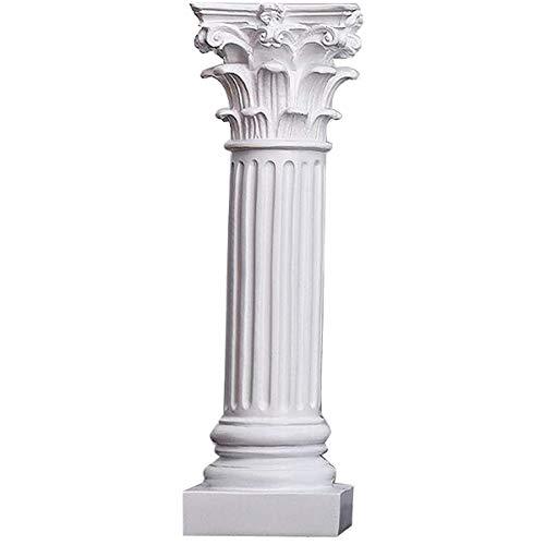 Siunwdiy Artesanías de Resina Vintage Estatua Esculturas Columna Pedestal Romano, Pilar Columna...