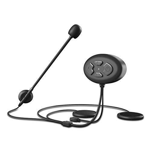 SANON Bluetooth 5. 0 EDR 1000M Casco de Motocicleta Intercomunicador Auricular Impermeable Casco...
