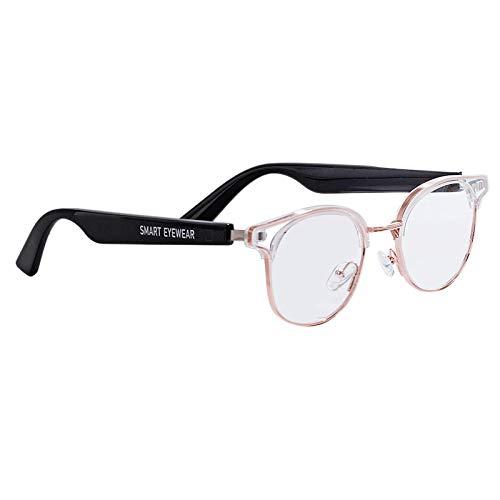 Domilay KX05B Gafas Inteligentes InaláMbrico Llamadas Manos Libres Audio OíDo Abierto Lentes de Luz Anti-Azul Gafas