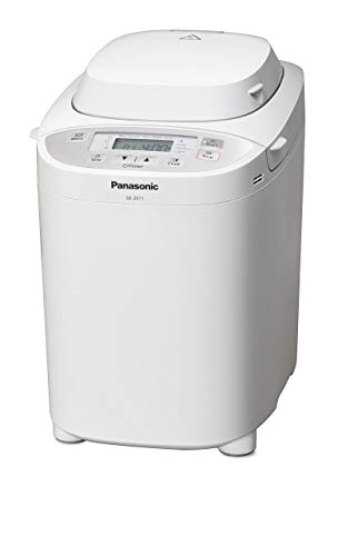 Panasonic Brotbackautomat SD-2511W (Brotbackmaschine, 33 Programme, Knethaken, timergesteuerter Rosinen- und Nussverteiler, weiß)