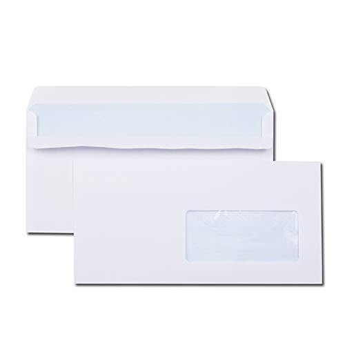 GPV 1384 Briefumschläge, DL 110 x 220 mm, weiß mit Fenster