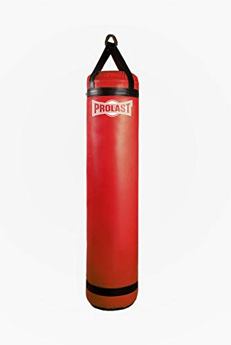 PROLAST Heavy Bag for Punching and Kicking- Great for Boxing, MMA, Muay Thai and Kickboxing for The Best Fitness Workouts (5ft Red, Filled with Bottom D-Ring)
