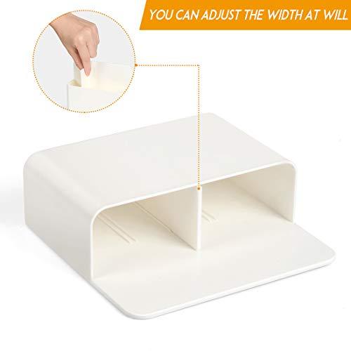 2 Pack Magnetic Dry Erase Marker Holder, Whiteboard Marker Holder, Mighty-magnetic Marker Pen Organizer for Whiteboards (White) Photo #2