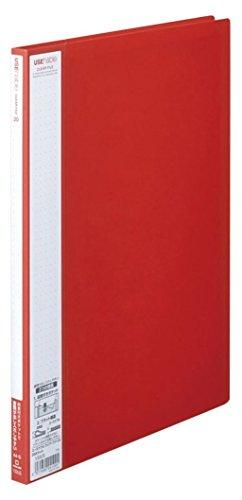 キングジム クリアーファイル ユーズナブル A4 20ポケット 133US 赤 【まとめ買い10冊セット】