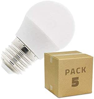 Pack Bombillas LED E27 Casquillo Gordo G45 5W (5 un) Blanco