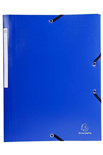 Exacompta - Réf. 55800E - 1 Chemise à élastiques 3 rabats PP OPAK - A4 - couleur aléatoire