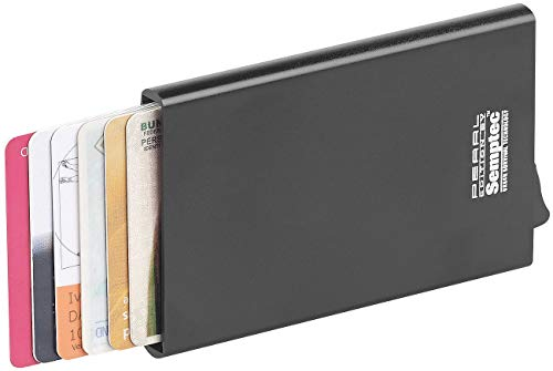 Semptec Urban Survival Technology Scheckkartenetui: RFID-Kartenetui, Aluminium, Auswurf-Mechanismus, für EC-Karten u.v.m. (EC Karten Etui Schutz)