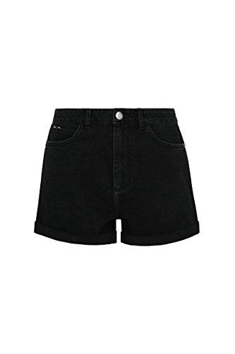TALLY WEIJL Damen Boyfriend Shorts Sshdemomi, Schwarz, 38
