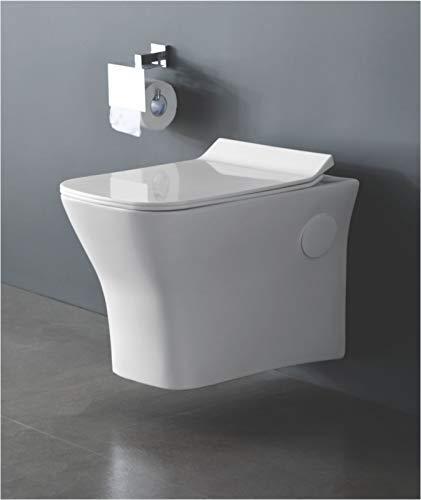 Zoyo Cera Soyo Ceramic Wall Mount Close Seat Cover (50 X 35 X 35 cm, White, Medium)