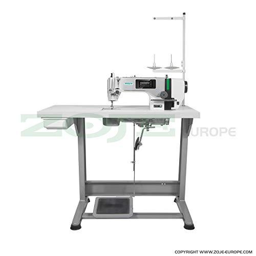 ZOJE Máquina de Coser Industrial, Completamente automática, lubricación Central, máquina de Coser Industrial, Completa (con Mesa y Soporte), máquina de Coser Industrial