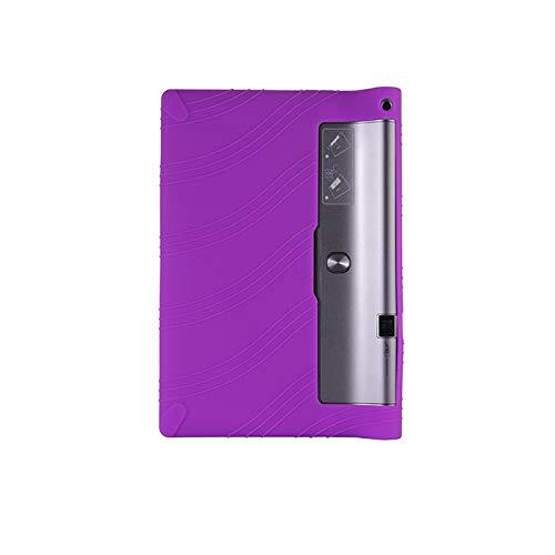GHC Pad Fundas & Covers para Lenovo Yoga Tab 3 Pro 10.1, Funda de Stand de Silicona para niños para Lenovo Yoga Tab 3 Pro 10.1 x90l x90f x90m (Color : Purple)
