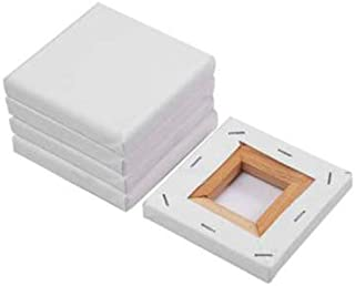 Set de 6 lienzos mini color blanco 100% algodón Lienzo y