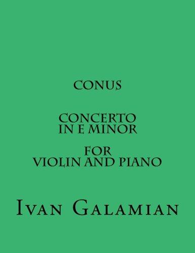 Conus Concerto In E Minor For Violin and Piano