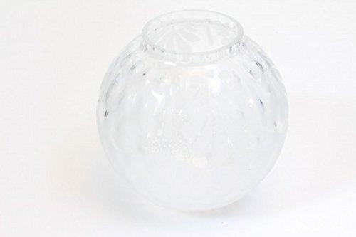 vintage13.de Kugelförmiger Lampenschirm Glas DDR Deckenlampe Waben Matt Original 70er 16cm