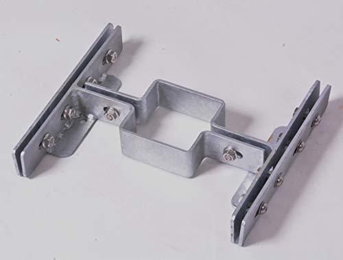 Gabionenadapter feuerverzinkt für Doppelstabmatten - zur Montage von Gabionenzäunen