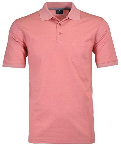 Ragman Herren Kurzarm Softknit Poloshirt 3XL Koralle