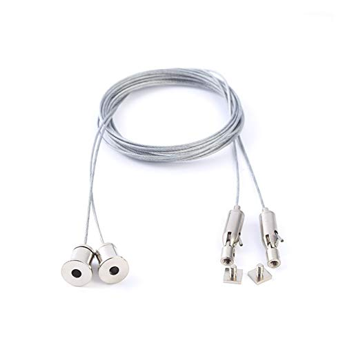 Cuerda de alambre Accesorios de iluminación Slingled Lámpara lineal Sling Lámpara de ranura de alambre Colgante Lámpara lineal Colgante Alambre Colgante 10pcs (Size : Pearl Chrome 4m)