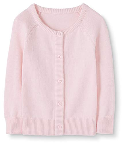 Moon and Back Baby Toddler Cardigan Sweater, Light Pink, 12-18 Months