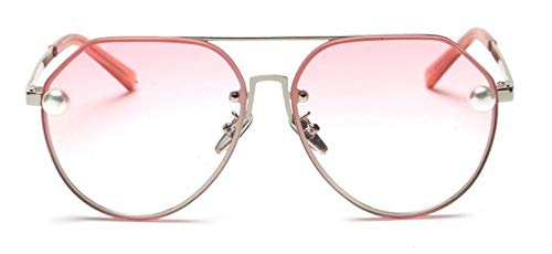 KonGYUER zonnebril, bril, kleurverloop, roze, vrouwen, mode, vintage, designer-zonnebril, metaal, luxe gradient zonnebril, dames, pilotenstijl, parelbril, UV400