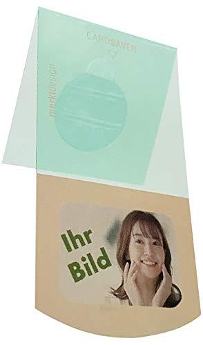 Card Saver - schützt ihre Debitkarten vod dem Herausfallen (grün, 5-6 Karten, ohne Bild)