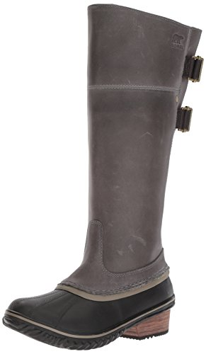 Sorel Women's Slimpack­ Riding Tall II Mid Calf Boot, Quarry, Pebble, 8 B US