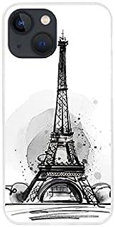 Etui na Apple iPhone 13 Mini - etui na telefon Fantastic Case - szkic wieży eiffla - guma case obudowa silikonowa wzory