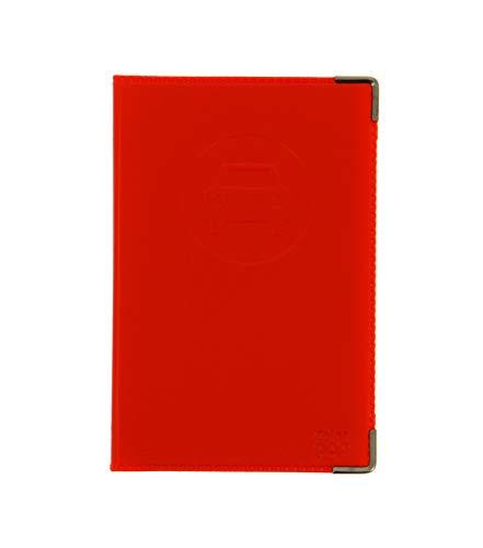 sans 550063 Porte-papiers véhicule Coloris Rouge + étui Transparent pour Carte Grise
