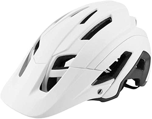 Casco Integral Adulto BMX Bike Mountain Biking - Casco Adulto Gran ventilación 53-63cm-Blanco, Blanca