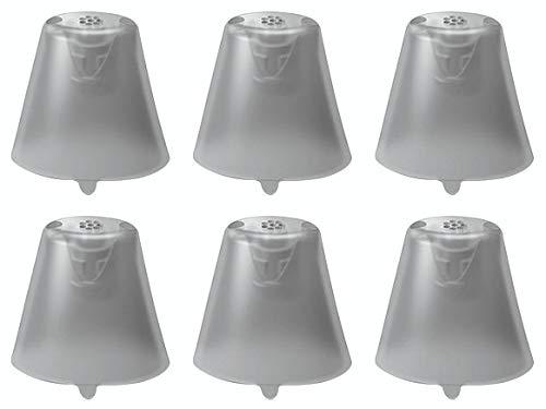 Siemens Click Sleeves für Signia Hörsysteme - neue Farbe rauchgrau - 6er Pkg für Siemens Signia Silk Primax Click - CIC