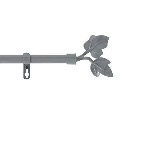 marque Douceur d'intérieur Kit Tringle Extensible 120 à 210 cm Peint Lierre Gris