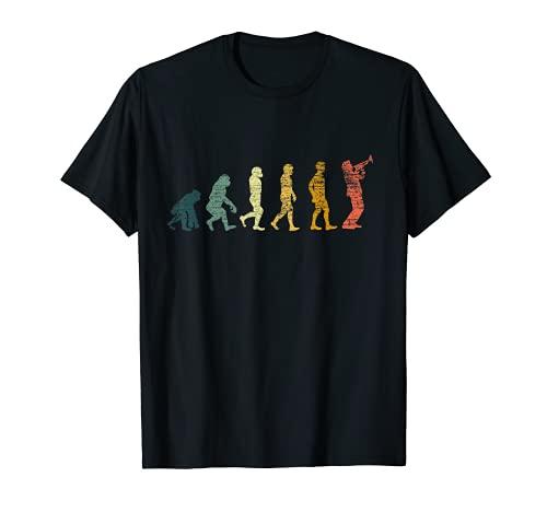 Trompetenspieler Geschenk Retro Evolution Trompete T-Shirt
