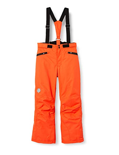 Color Kids Mädchen Ski Pants with Pockets Schneehose, Cherry Tomato, 152