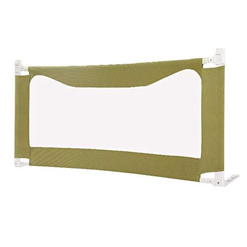 H.aetn Barrière de lit portative, sécurité Pliante, Protection de lit de Protection pour bébé, Bambin, Hauteur 80 cm, Vert Olive (Taille: 1,5 m)