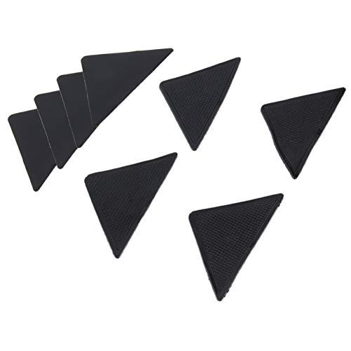 FYstar Rutschfeste rutschfeste und wiederverwendbare Silikon-Griffpolster für Teppichmatten, 4 Stück