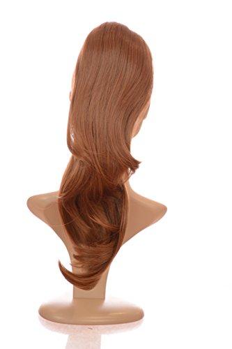 Hair By MissTresses Long ondulé double Wear Style queue de cheval postiche en Caramel Mid Marron 40,6 cm