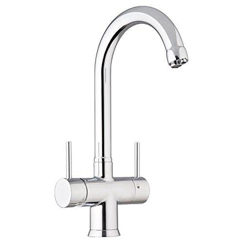 5-vie-rubinetto Nobius C-erogatore cromo per legno freddo, non trattato per immagazzinare acqua calda e aggiungere acqua 3 varietà ad esempio still, in ogni momento e con anidride carbonica.