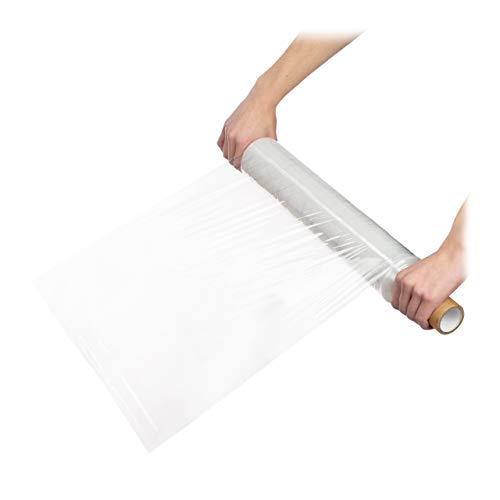 Relaxdays Stretchfolie, bij verhuizing meubels verpakken, stofvrije opslag, 23 my, rol 200 m, verpakkingsfolie, transparant