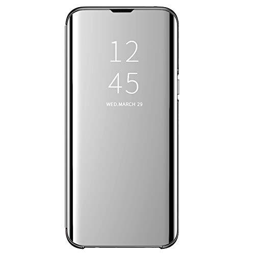 Clear View Standing Cover para el Samsung Galaxy S8 funda, compatible con Galaxy S8, funda con espejo, funda protectora Flip Cover con función atril 360 grados para Galaxy S8
