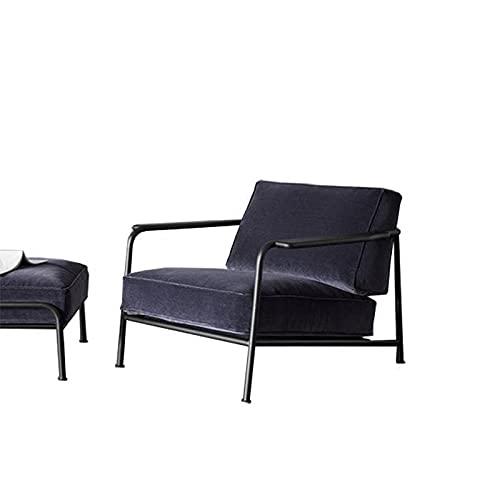 YINGTAO22-SHOP Sofás Moderna Oficina Minimalista Silla de sofá Individual Inicio Balcón Flannel Lazy Sofá Cafetería Sala de recepción Sofá Sofa Chaise Longue (Color : Single Sofa 83 91 73cm)