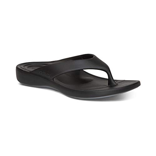Aetrex Maui Waterfriendly Orthotic Flip Flop with Arch Support