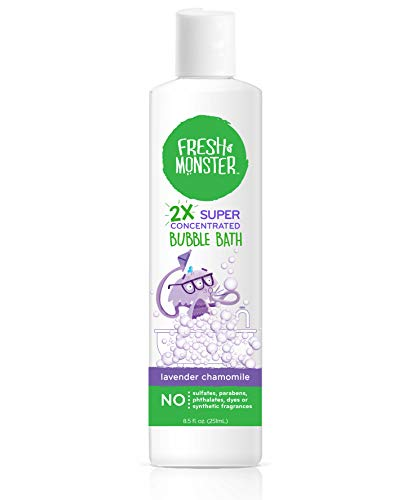 Fresh Monster Bubble Bath Kids, Natural, 2X Super Concentrated, Hypoallergenic and Calming