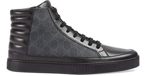 Gucci Herren GG Supreme Canvas High Top Sneaker, Nero/Grigio (Schwarz/Grau) 433717 (8)