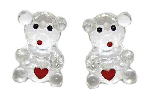 WWW.Vienna-Fashion.at - Oso con corazón de cristal para San Valentín (2 figuras...
