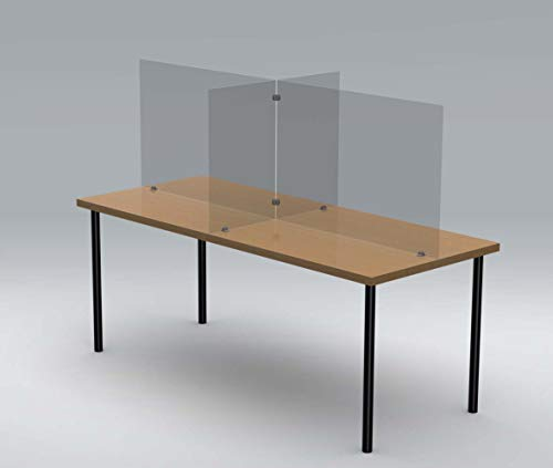 Cafeteria Plexiglass Table Divider by Accelevation - For Schools, Cafeterias and Restaurants - 72'L x 30'W