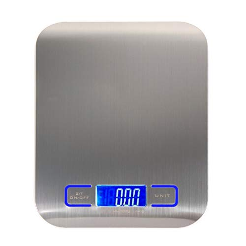 Haushalt Edelstahl Küchenhardware digitale elektronische Maßstab Backen Küchenwaage LCD (Color : Black)